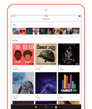 SoundCloud Redesign iPad 2