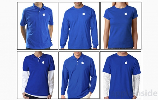 blauwe shirts Apple Store