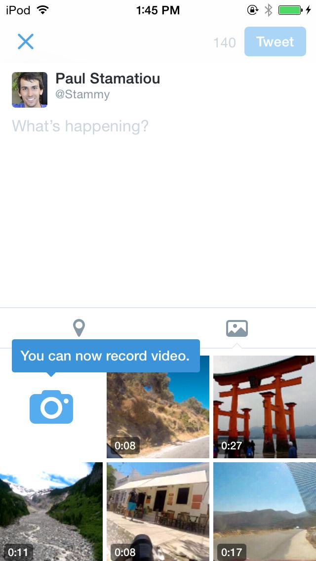 Twitter video functie