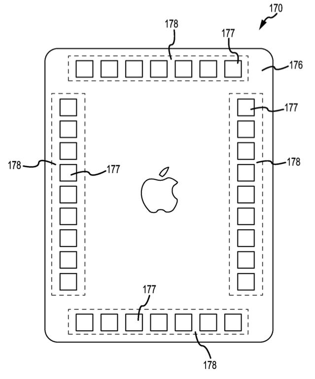 iPad sensoren achterkant patent