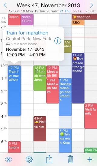 week calendar iphone