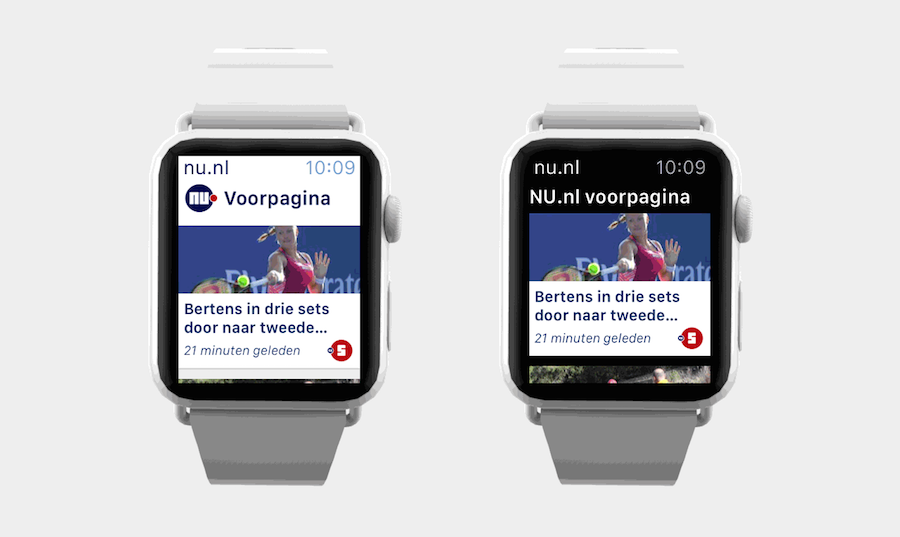 NU.nl Apple Watch voorpagina