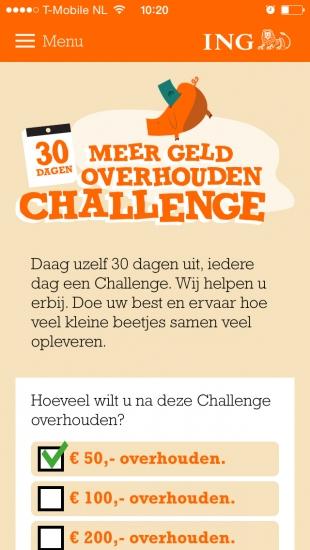 ING Meer Geld Overhouden Challenge