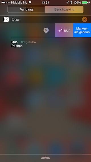 Due notificatie