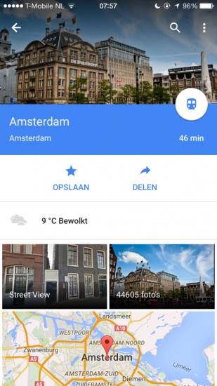 Google Maps weer (Custom)