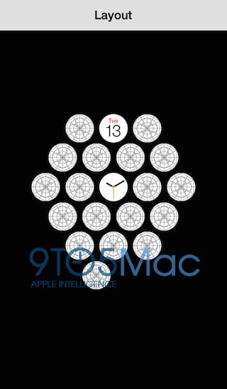 Apple Watch app layout