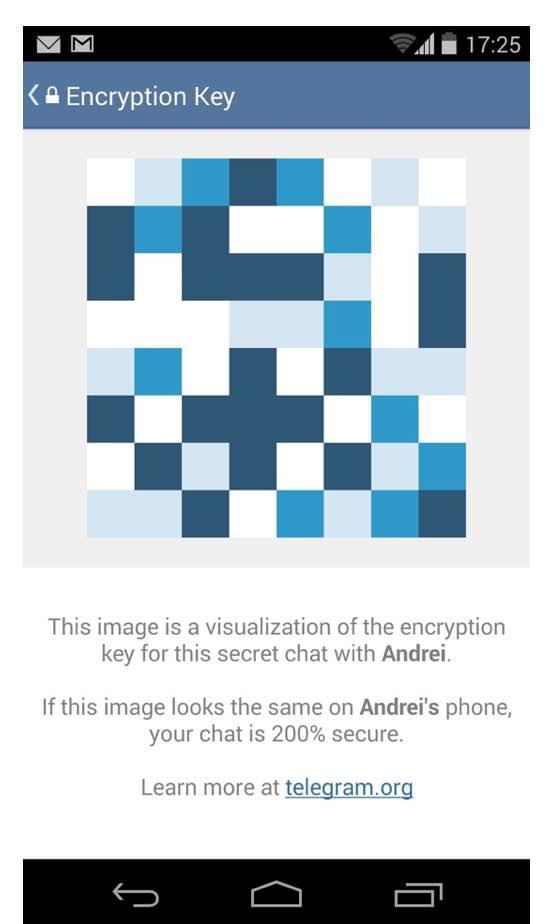 telegram visuele fingerprint