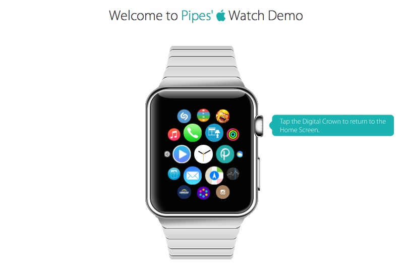 De demo van de Apple Watch