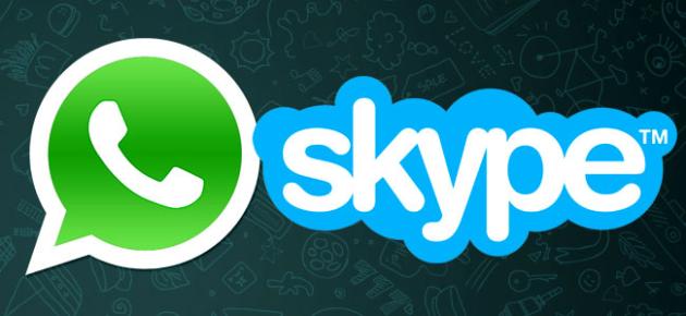whatsapp skype logo