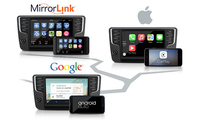 volkswagen carplay mirrorlink