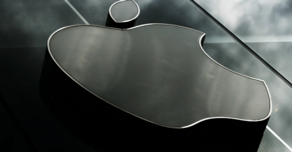 apple logo liggend