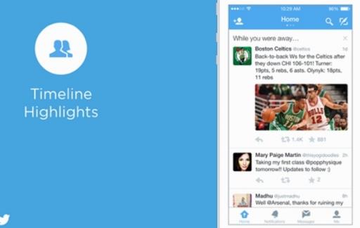 timeline highlights twitter