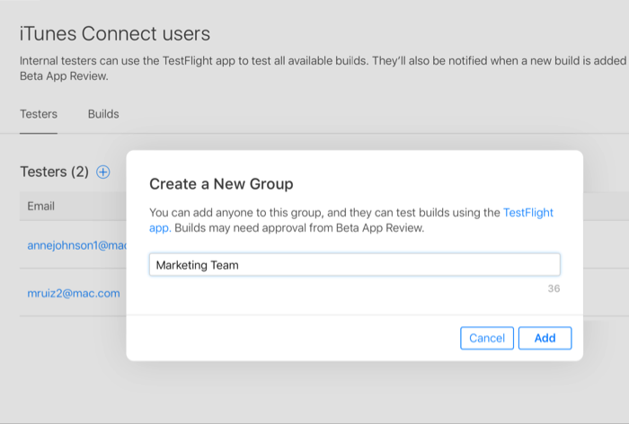 TestFlight gebruiken om iOS-apps te testen