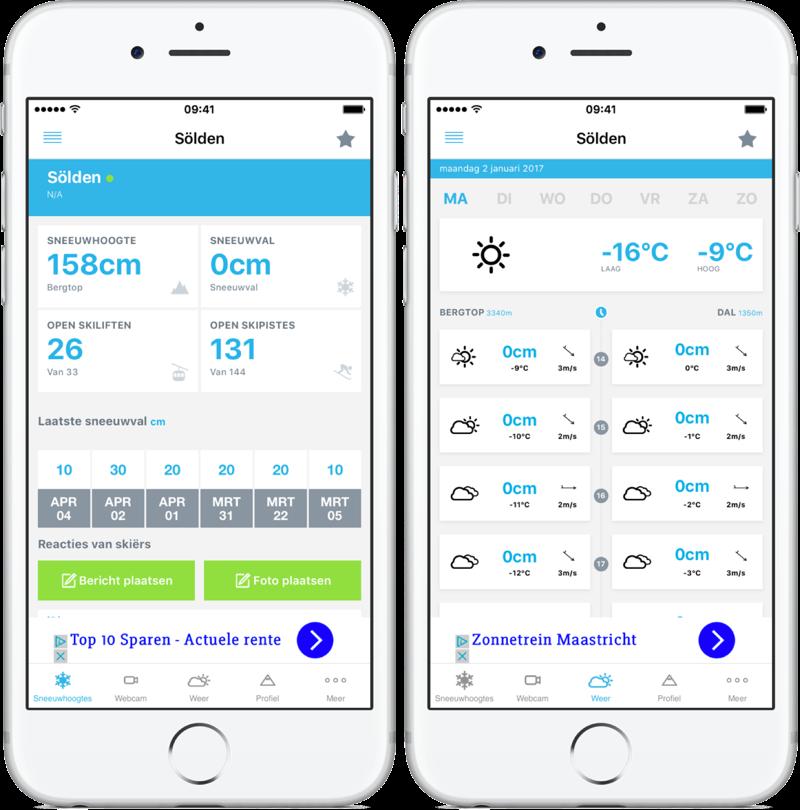 Skiiinfo Sneeuwhoogte & Ski App.