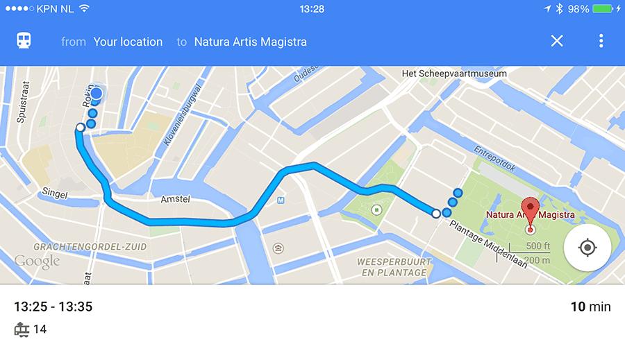 google-maps-route-plannen-ov