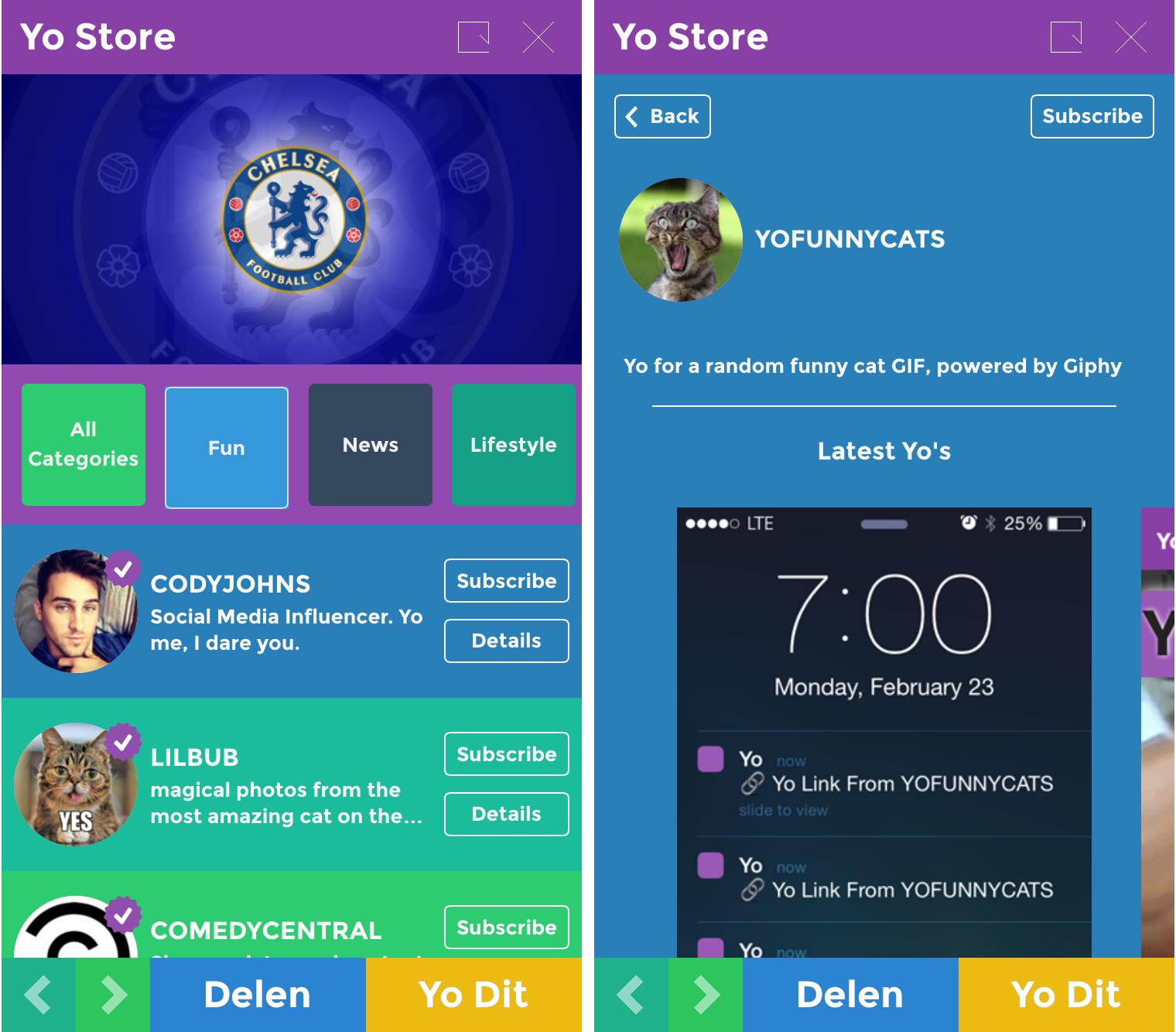 Yo Store screenshot