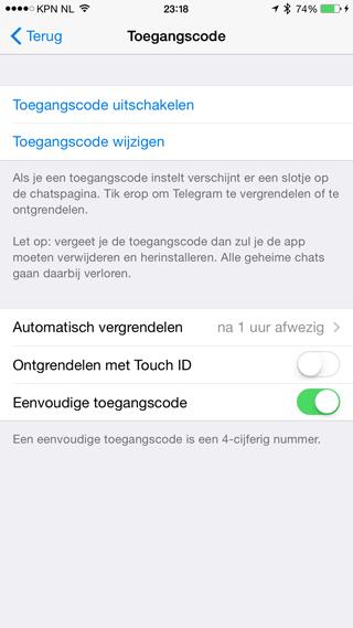 telegram-toegangscode