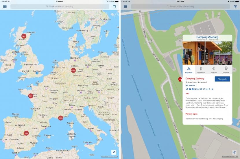 CampingApp Nederlands screenshot