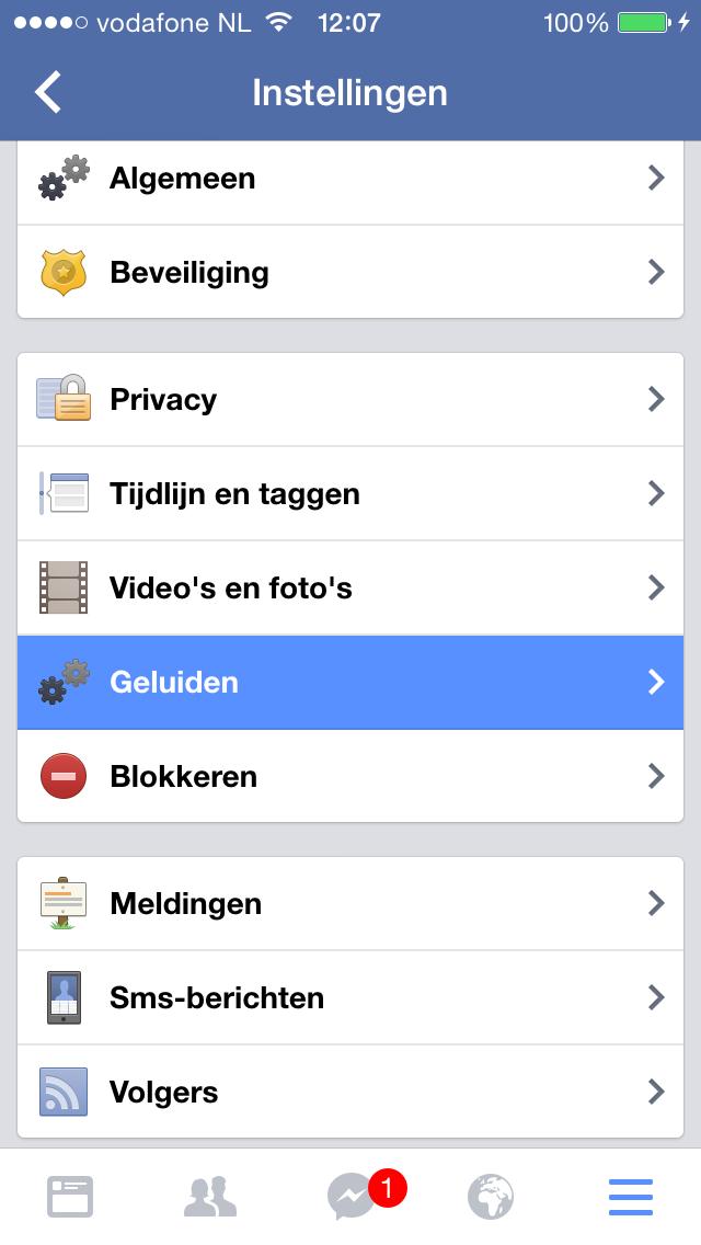 facebook notificatie-geluiden stap 3