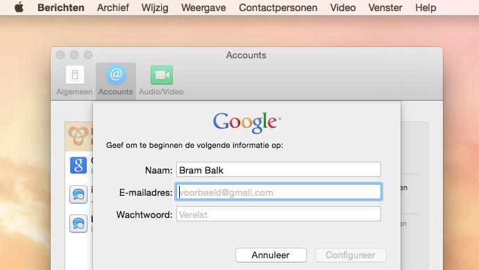 Google Hangouts Berichten 1