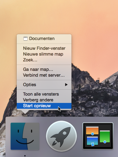 Finder herstarten 1
