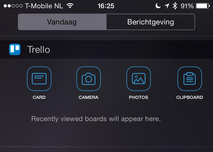 Trello widget