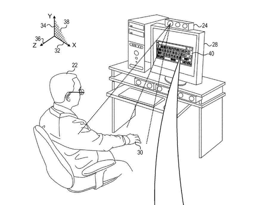 Hologramtoetsenbord patent