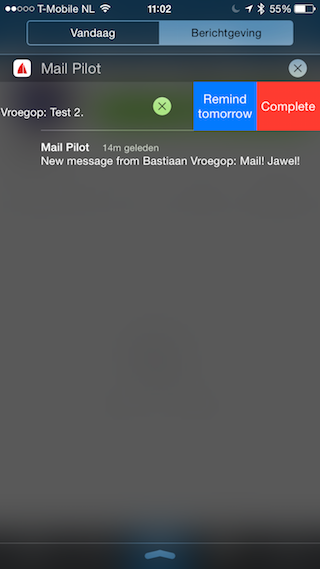 Mail Pilot 2 notificaties