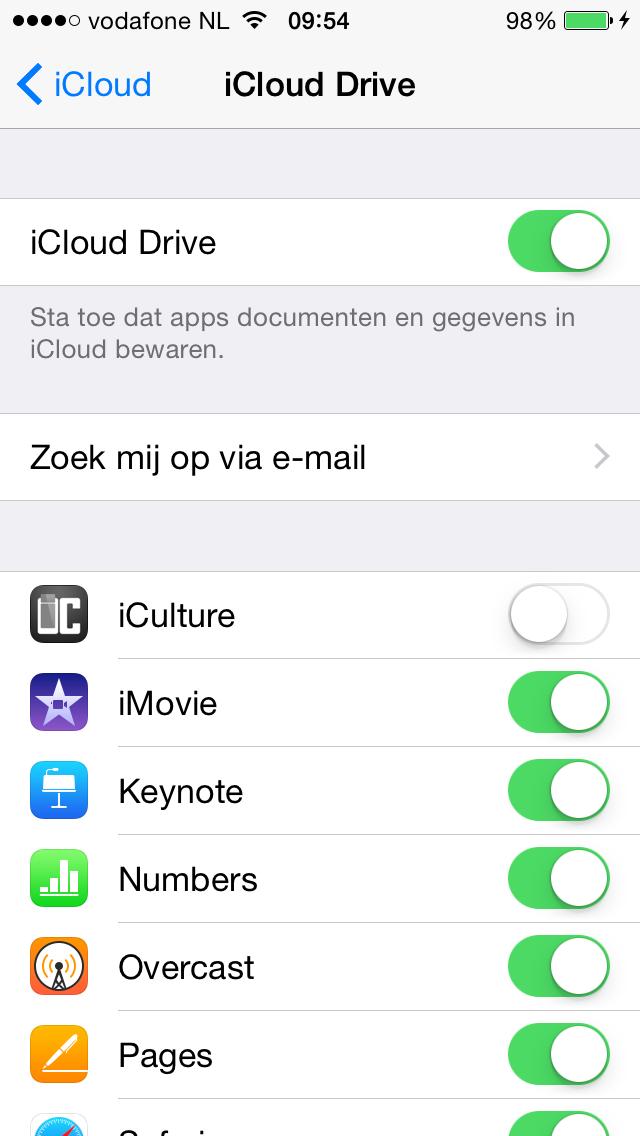 iCloud Drive uitschakelen iPhone