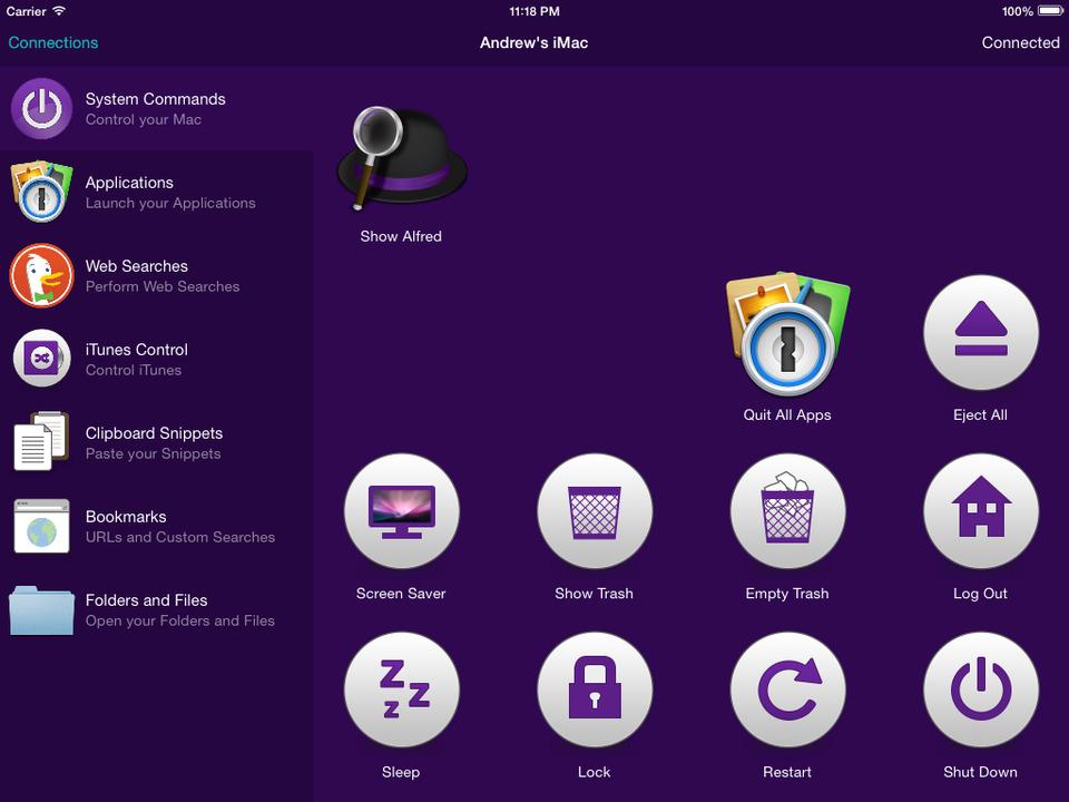 Alfred Remote iPad