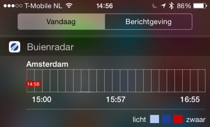 Buienradar widget feature