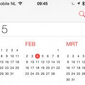 iOS 8 calendar screenshot