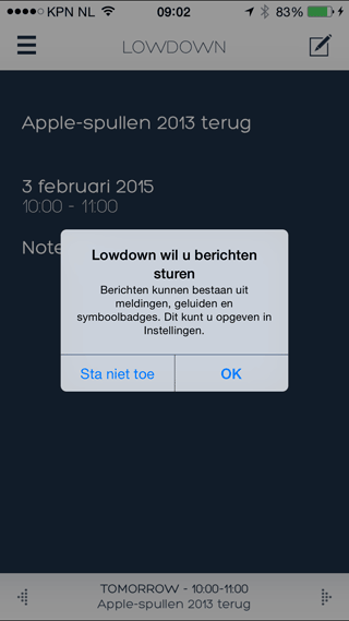 lowdown-notificaties
