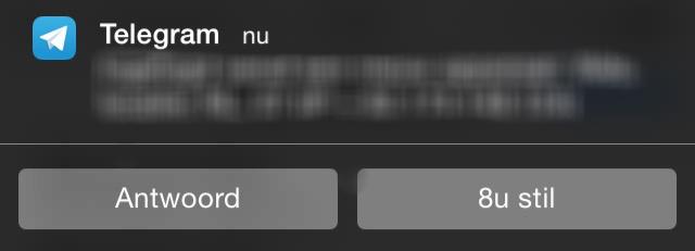 Telegram interactieve notificaties