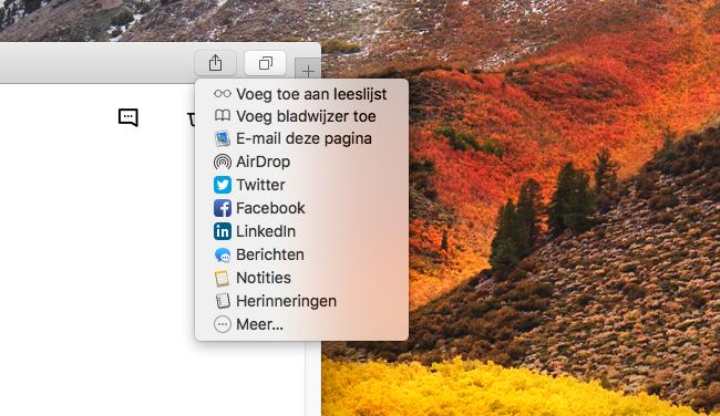 Safari Leeslijst op de Mac