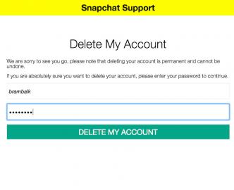 snapchat-account verwijderen