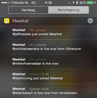 Meerkat pushberichten