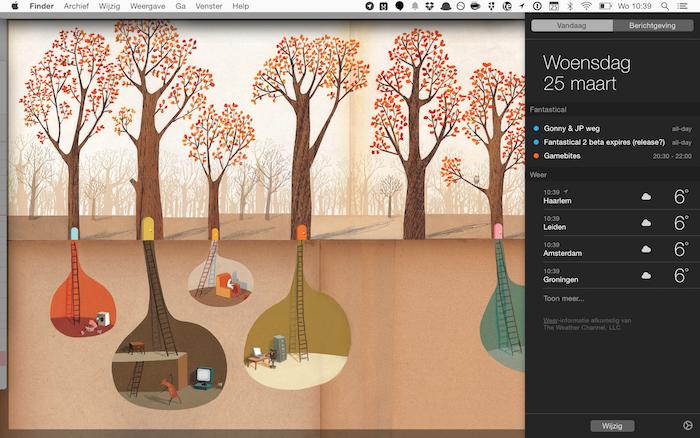 Fantastical 2 Mac widget