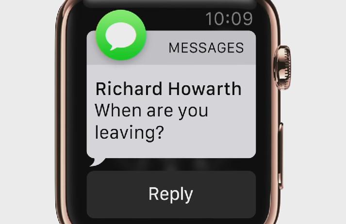 Apple Watch notificatie