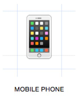 Mobiele telefoon emoji