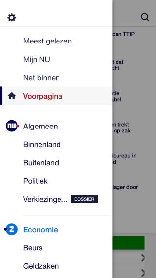 NU.nl menu