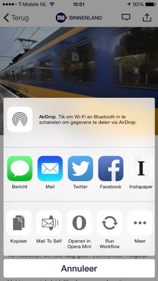 NU.nl iOS 8 extensies