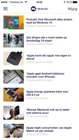 NU.nl artikelfeed