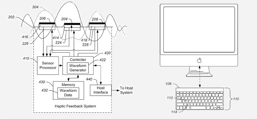Apple haptic keyboard patent