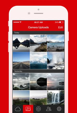 Screenshot MEGA app