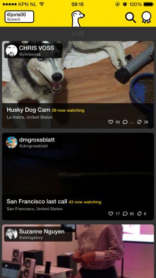 Meerkat app screenshot