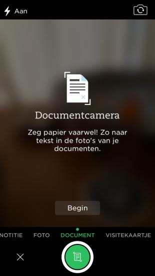 evernote documentenscanner