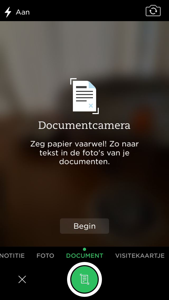 evernote documentenscanner