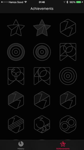 Activity app achievements