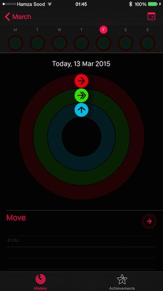 Activity App log